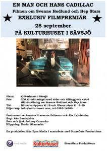 Filmpremiär En man & hans cadillac Svenne Hedlund