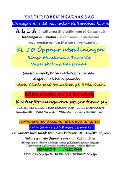 Kulturföreningarnas dag i Sävsjö